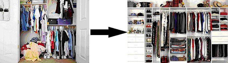 Разбор гардероба. До и после.