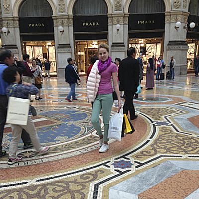 Покупки в центре Милана