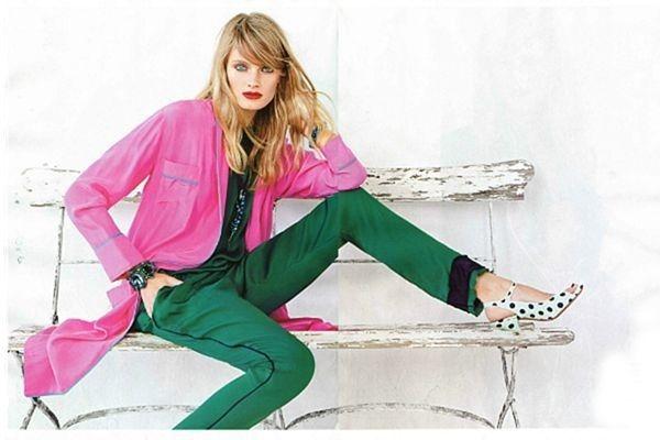 Зелено-розовая палитра