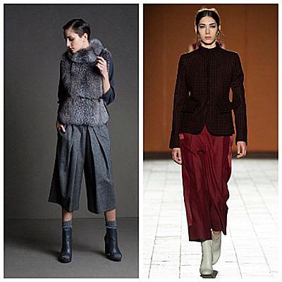 Модный показ, брюки-кюлоты