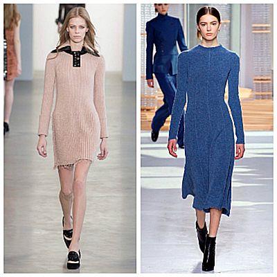 Модный показ, трикотажные платья