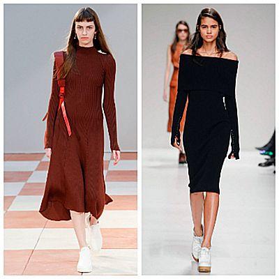 Модный показ, платья из трикотажа