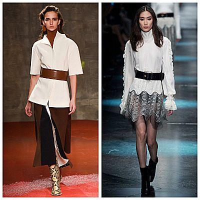 Модный показ, широкие пояса