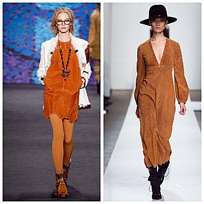 Модный показ, одежда из тонкой замши