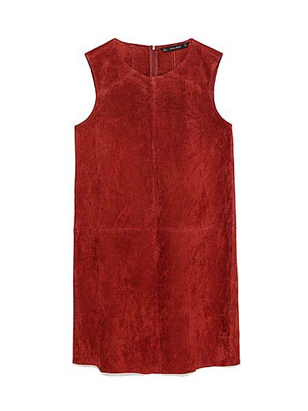 Платье из тонкой замши Zara